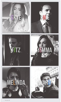 Agents of Skye pHil fItz jEmma meLinda warD WOAH...names spell out shield