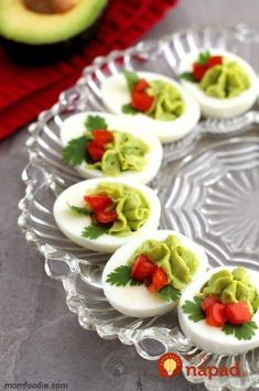 Christmas Deviled Eggs - Keto Holiday Starters - If you are looking for . - Christmas Deviled Eggs – Keto Holiday Appetizers – If you& looking for festive appetizer - Devilled Eggs Recipe Best, Deviled Eggs Recipe, Deviled Egg Platter, Avocado Deviled Eggs, Egg Recipes, Appetizer Recipes, Cooking Recipes, Snacks Recipes, Appetizer Ideas