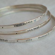 """Bracelets """"salle d'attente"""" en argent massif"""