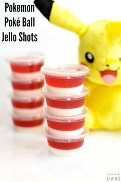 Pokemon Poké Ball Jello Shots - more for me, less for the kiddos on this idea. Pokemon Themed Party, Pokemon Birthday Cake, Birthday Fun, Food Themes, Party Themes, Party Ideas, Festa Pokemon Go, Pokemon Pokemon, Pokemon Party Decorations