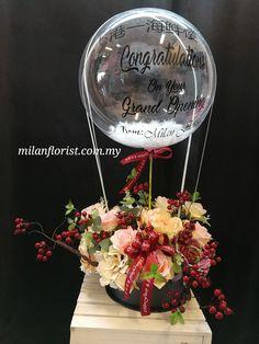 # 港 一 美食 楼 air balloon flower box with heart – Valentine's Day Balloon Centerpieces, Balloon Decorations, Baby Shower Decorations, Bubble Balloons, Giant Balloons, Flower Box Gift, Flower Boxes, Balloon Flowers, Balloon Bouquet