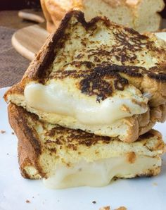 Cloud bread grilled cheese. Get the recipe.
