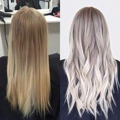 Blonder and brighter ✨ #babylights #hairpainting #blondehair #sombre #beachwaves #beigeblonde #iceblonde #prettyhair #hairinspo #transformation