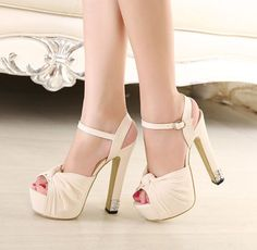 Womens Block High Heels Platform Shoes Sandals Ankle Strap Hollow Out Pumps