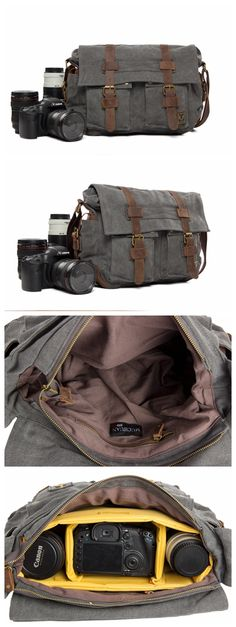 CANVAS DSLR CAMERA BAG CROSS BODY MESSENGER CAMERA BAG FOR CANON EOS NIKON SONY OLYMPUS 2138L