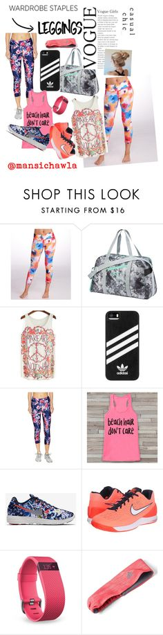 """LEGGINGS-yoga"" by mansichawla ❤ liked on Polyvore featuring MSP by Miraclesuit, Puma, adidas, We Are Handsome, NIKE, Fitbit, Leggings and WardrobeStaples"
