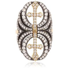 Elise Dray Women Chevalresque Ring (£6,784) ❤ liked on Polyvore featuring jewelry, rings, elise dray jewelry and elise dray