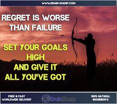 Regret is Worse than Failure | BrainSharp Supplements