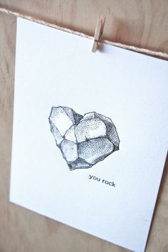 Geology gifts Love Romantic You rock by fluidinkletterpress