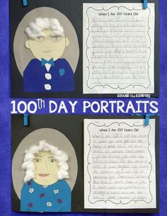 100th day narrative writing project and portrait ideas for 1st, 2nd and 3rd grade plus a FREE class book, Things We've Been Told 100 times. #100thdayactivities #secondgrade #firstgrade #thirdgrade