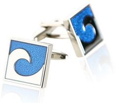 Blue Wave Cufflinks by Cuff-Daddy Cuff-Daddy. $29.99. Arrives in hard-sided, presentation box suitable for gifting.. Made by Cuff-Daddy. Save 60%!