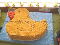 Jamies first birthday Duck cake Stuff Ive Made Pinterest
