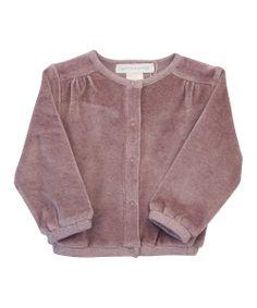 Mauve Velour Jacket by Serendipity Organics Baby