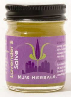 MJs Herbals Lavender E Salve- One Ounce Concentrate  $12.99. This is made by Brooklyn Based MJs Herbals. All organic, woman owned company.