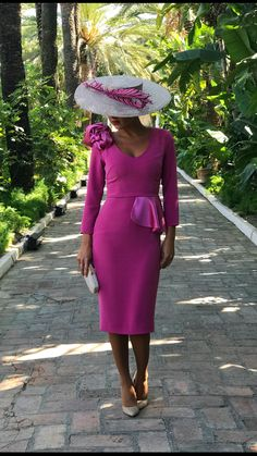 Best Classy Outfits Part 16 Wedding Hats, Wedding Attire, Mother Of Bride Outfits, Races Fashion, Church Outfits, African Dress, Contemporary Fashion, Pink Fashion, Classy Outfits