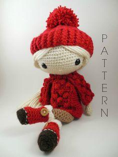 Alejandra Amigurumi Doll Crochet Pattern PDF by CarmenRent