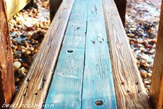 Rustic Driftwood Kitchen Island and Bench. I found this wood on the beach after a Tropical Storm washed it up. Driftwood Kitchen, Rustic Kitchen Island, Diy Furniture Projects, Pallet Furniture, Recycled Kitchen, Arts And Crafts, Tropical, Farm House, Pallets
