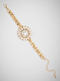 the crystal daisy bracelet is a delicate stunner