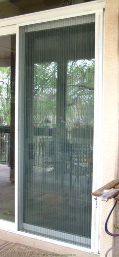 Plisse Sliding Glass Retractable Door Screens   Retractable Screens For  Doors U0026 Windows