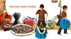 Swoop Bags:swoop up every kid-made toy mess