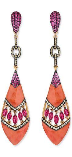 Coral Drop Earrings by Cellini