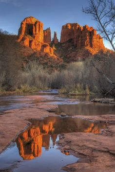 Cathedral Rock From Red Rock Crossing In Sedona, Arizona.