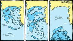 Editorial cartoon by Bob Englehart: Falling apart   Washington Examiner / A modern day Atlantis