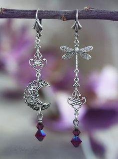 Earrings Handmade Moondreamer Earrings by Vintage Angel -