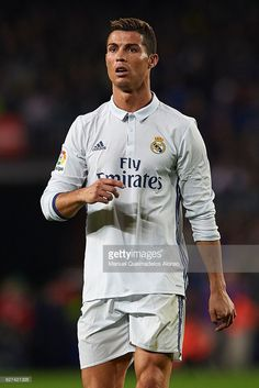 Cristiano Ronaldo of Real Madrid looks on during the La Liga match between FC Barcelona and Real Madrid CF at Camp Nou stadium on December 03, 2016 in Barcelona, Spain.