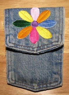 Picture of Recycled Denim Cell Phone Pocket