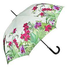 VON LILIENFELD Paraguas automático con motivo de Orquídeas