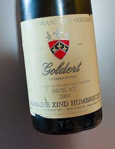 """Alsace Grand Cru Goldert Muscat 2004 Domaine Zind-Humbrecht : """"Pas un muscat exubérant, mais un beau vin, bien fait, élancé, longiligne, précis qui a parfaitement accompagné des crêpes aux asperges sauce béchamel."""" #DrinkAlsace"""