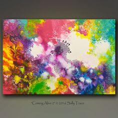 Resumen pintura pintura original pintura por SallyTraceFineArt