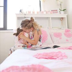 """16 Likes, 2 Comments - Whimsy Kids (@whimsykidsbedding) on Instagram: """"There's something special about a girl and her doll!💕(Pic @my3ratbagz3614)"""""""