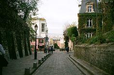 Rue des Saules in Paris, France