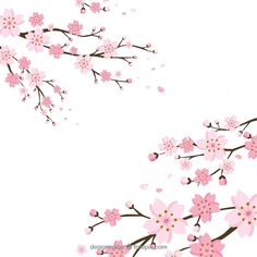 Cherry blossom background in flat style Free Vector Cherry Blossom Wallpaper, Cherry Blossom Background, Cherry Blossom Art, Cherry Blossom Season, Rose Gold Texture, New Year Wallpaper, Scrapbook Borders, Glitter Background, Vector Background