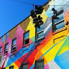 Colorful Street Scenes in Shoreditch, East London