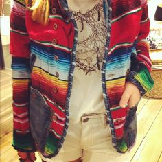 """#freepeople """"Mexican blanket jacket"""" on line now - @freepeople- #webstagram"""