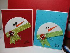 Снеговики из картона