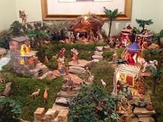 This is called a 1 upper nativity scene. No way someone can do better than this! Christmas Crib Ideas, Christmas Table Decorations, All Things Christmas, Christmas Holidays, Christmas Crafts, Holiday Decor, Christmas Bells, Christmas Printables, Xmas