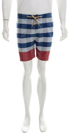 YMC Gingham Flat Front Shorts