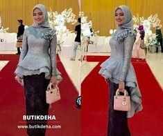 29 Ideas for dress dance brides Kebaya Peplum, Kebaya Hijab, Batik Kebaya, Kebaya Muslim, Muslim Dress, Hijab Dress, Hijab Outfit, Kebaya Brokat, Muslim Fashion