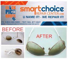 sunglass repair fkos  Smart Choice Repair Center repairs all types of broken frames on eyewear  and sunglasses! Plastic