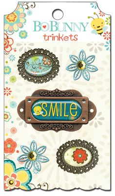 Bo Bunny Press - Hello Sunshine Collection - Metal Embellishments - Trinkets at Scrapbook.com $4.99