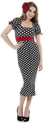 Polka Dots 1930s Style Fitted Dress $71.00  http://www.vintagedancer.com/1930s/1930s-fashion/