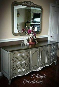 Chalk Finish Paint - Furniture & Cabinet Paint (32 oz., beachwood) - - Amazon.com