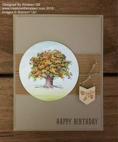 Lovely as a tree in Watercolour. #creatinwithkirsteen #stampinup #oldiebutgoodie #lovelyasatree