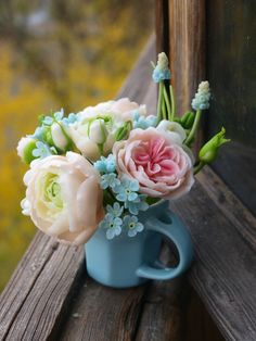 Bouquet in the spirit of Provence .cold porcelain bouquet of roses, Flower Arrangement, Mother's Day, clay flowers,rustic Clay Flowers, My Flower, Fresh Flowers, Flower Vases, Flower Power, Beautiful Flowers, Hand Flowers, Floral Flowers, Rose Bouquet