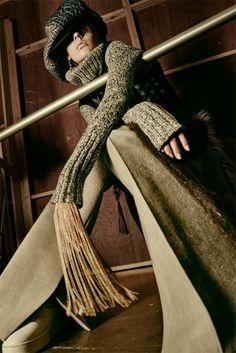 Yulia Ermakova pose for Interview Magazine October 2015 Photoshoot