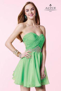 Alyce Paris Short 3643 Sophisticated Dress mint